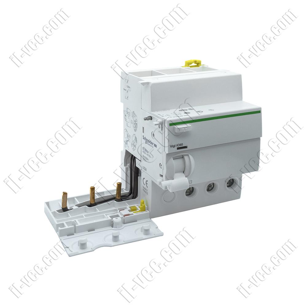 Блок дифференциальный защиты Schneider Electric A9V41363 Acti9 Vigi iC60 3P 63A 30мА AC