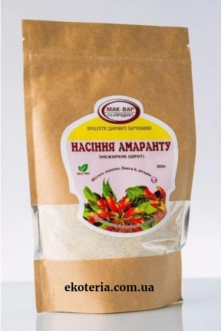 Шрот семян амаранта, ТМ Мак-Вар, 200 г - Екотерия, продукты здорового питания в Киеве