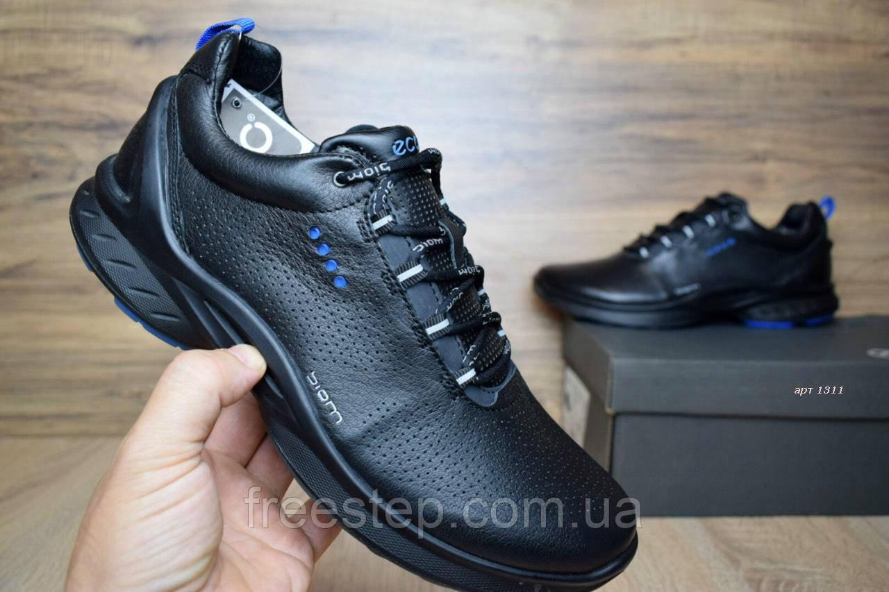 Мужские кроссовки в стиле ECCO Biom Fjuel Men s, черные кожа , фото 1 01c549d2881