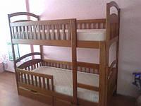 Кровать двухъярусная «Карина — Люкс» (с 2-я ортопедическими матрасами и 2-я ящиками, дно ящиков фанера)