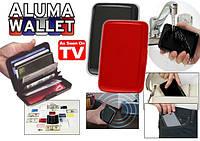Кошелек-кредитница Aluma Wallet, алюминиевый кошелек алюма валет