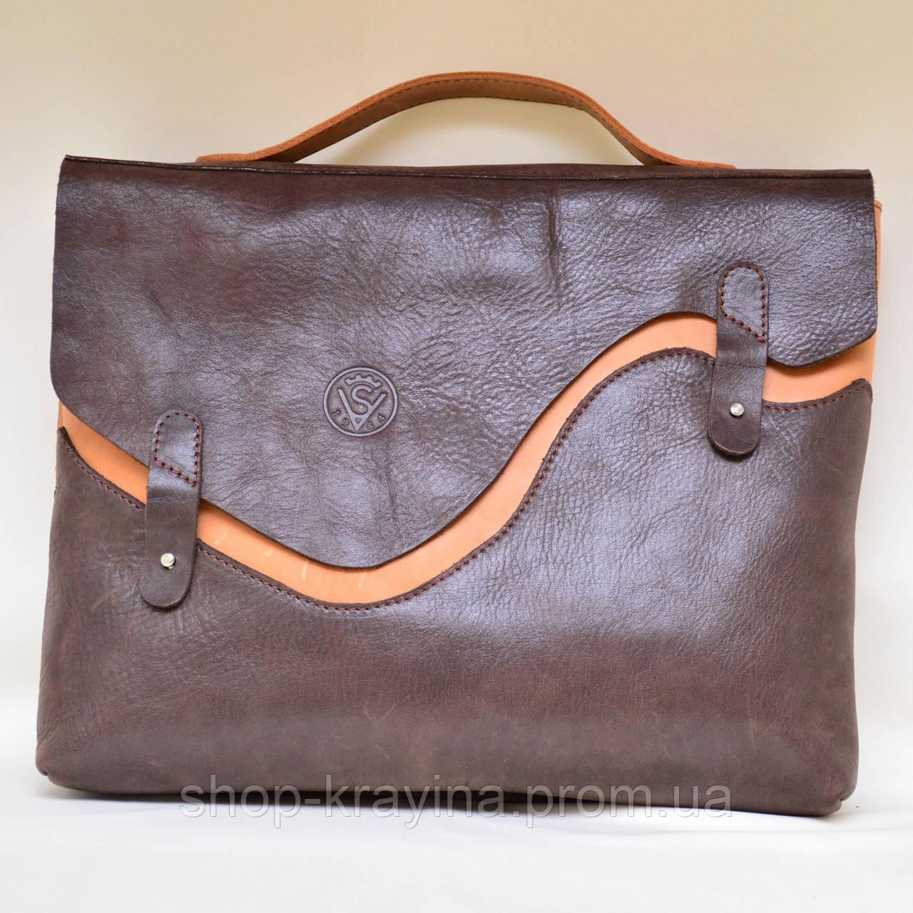 Портфель для документов VS130 orange in chocolate 32х26х5 см