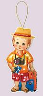 Набор для шитья игрушки из фетра Кукла. Турист
