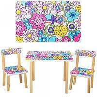Столик 501-7деревянный, 60-40см, 2 стульчика