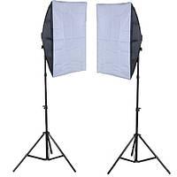 Комплект студийного света Fotobestway (софтбоксы 50х70 см)