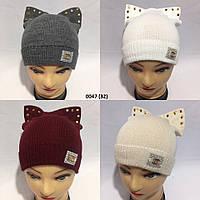 Детская  Вязаная осенняя шапка 0047 (32)