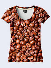 Женсая футболка Кофейные зерна