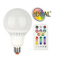 Лампа LED G100 E27 iDual 40 с пультом