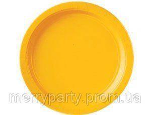 18 см 8 шт./упак. Набор тарелок желтый США бумажные