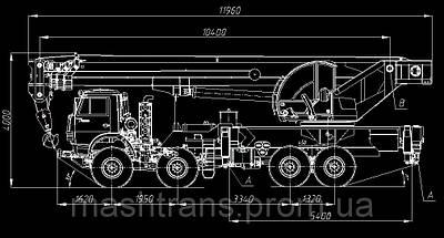 Автокран КЛИНЦЫ КС-65719-3К-1 на шасси КАМАЗ-63501, фото 2