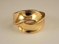 Кольцо Позолота 18к две широкие линии Размер 16,17