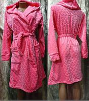 Женский теплый халат с капюшоном 42-48 р., женские халаты оптом от производителя