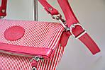 Кожаный клатч VS131 pink stripes 28х20 см, фото 3