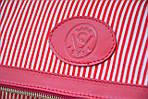 Кожаный клатч VS131 pink stripes 28х20 см, фото 4