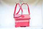 Кожаный клатч VS131 pink stripes 28х20 см, фото 5