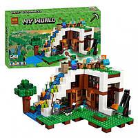 Конструктор Bela Minecraft  «База на водопаде», 747 дет
