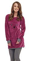Пижама женская плюшевая теплая DN 9406
