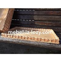 Лоток плетеный из лозы h5-60X40