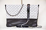 Кожаный клатч VS131 marine 28х20 см, фото 4