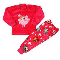 Пижама детская махровая Смешарики Нюша для девочки, р.р. 86-134 см