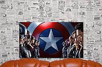 """Картина на холсте """"Первый мститель: Противостояние.Marvel Comics"""" 70х40 см."""