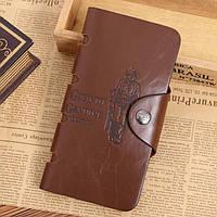 Кожаный мужской кошелек, портмоне, бумажник Bailini .ЕК3