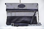 Кожаный клатч VS131 zebra 28х20 см, фото 2