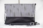 Кожаный клатч VS131 zebra 28х20 см, фото 3
