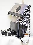 Кожаный клатч VS131 zebra 28х20 см, фото 4