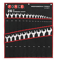 Набір ключів рожково-накидних Force 5261C (26 предметів)