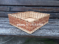 Плетеные лоток-короб 50х40 с высотой 10 см