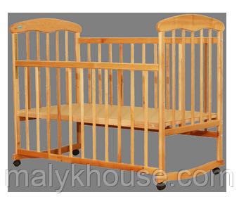 Дитяче ліжечко Наталка класична вільха світла