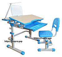 Парта и стульчик для школьника для дома FunDesk Lavoro увеличенный (с подставкой и лампой L2), 2 цвета, фото 1