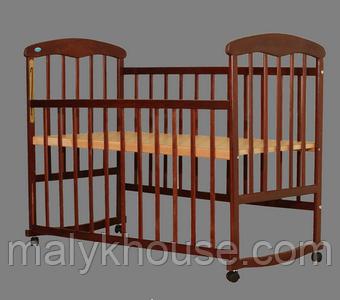 Детская кроватка Наталка классическая ольха тонированная