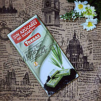 Шоколад Torras Algas y Flor de Sal Negra, 75 г, белый шоколад с морскими водорослями и черной солью