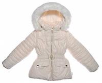 Куртка для девочки зимняя,  цвет молочный, Garden baby