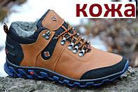 Ботинки мужские зимние кожаные коричневые (код 322) - чоловічі зимові черевики шкіряні коричневі, фото 1