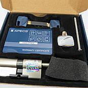 Цилиндровый механизм с гибридными ключами Apecs XR 80 мм (40*40) с поворотником