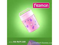 Термос для еды 350 мл, розовый (нерж сталь) Код 9679