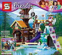 Конструктор Friends sy 832 «Спортивный лагерь: дом на дереве», 754 дет