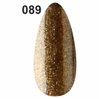 Гель-лак Christian №089 золотисто-ореховый с мерцанием, 7 мл