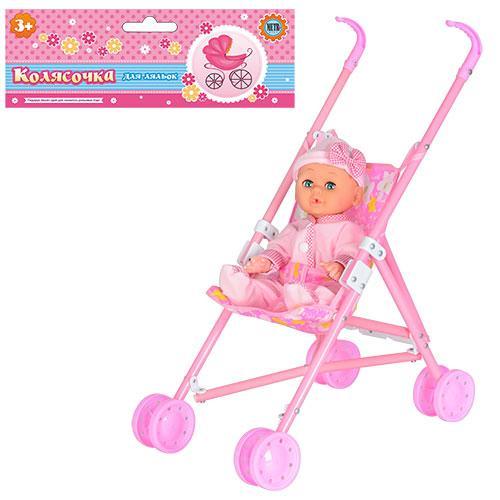 Коляска детская с куклой R 86306. МО. Гарантия качества. Быстрая доставка.