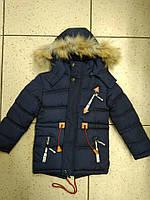 Детская зимняя теплая курточка для мальчика р.110-134