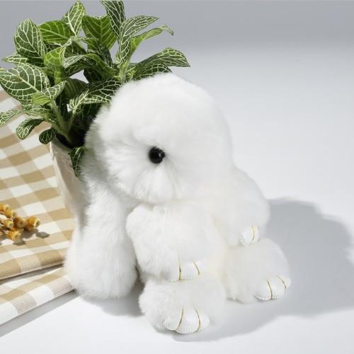 Брелок на сумку кролик из искусственного меха Rex Fendi (Рекс Фенди) белый, 19 см