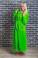 Махровый женский халат  42-54 р салатовый, фото 1