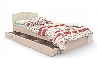 Детская кровать «Мишка» 120x190 см, + ящик на 3 секции, цвет: ваниль + венге светлый