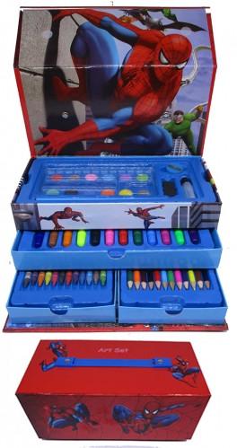 """Набор для рисования 54 предметов в сундучке """"Спайдермен"""""""