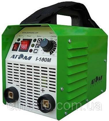 Сварочный инвертор Атом I-180M с кабелем 3+2 и зажимами Abicor Binzel