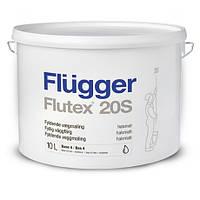 Акриловая водоэмульсионная краска для стен и потолков Flugger Flutex 20S, 10л
