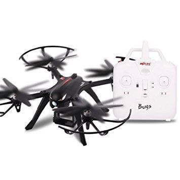 Бюджетный квадрокоптер дрон большого размера с бесколлекторными двигателями MJX Bugs 3